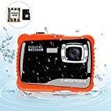 BOMEON Underwater Camera for Kids 12MP HD Underwater Action Camera Camcorder with 8X Digital Zoom 2.0 Inch LCD Display with 8G SD Card