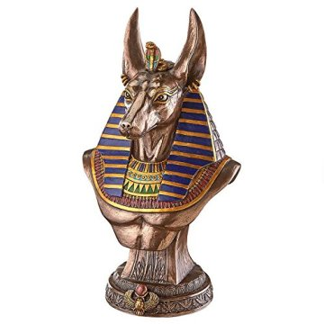 Design Toscano Anubis God of Ancient Egypt Sculptural Bust 3