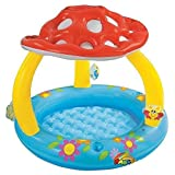 Inflatable Swimming Pool Kid Baby Infant Sun Shade Canopy Water Play Fun Outdoor