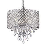 EDVIVI EPG801CH 4 Light Crystal Chandelier Ceiling Fixture