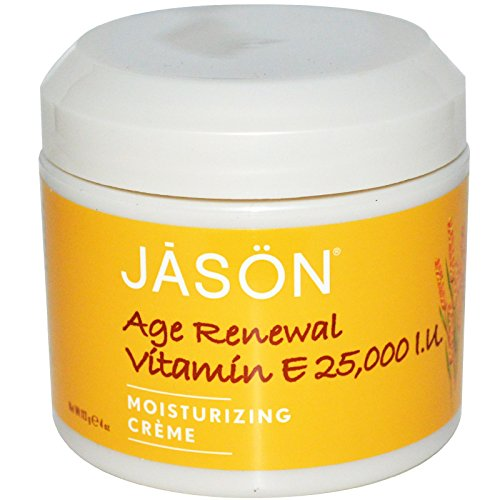 Jason Natural, Age Renewal Vitamin E, Moisturizing Creme, 25,000 IU, 4 oz (113 g) - 2pc