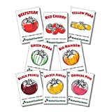 Rebel Gardens Heirloom Tomato Seeds - 8 Varieties of Organic Non GMO Seed for Planting
