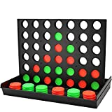 COUOMOXA 4 Connect in a Row Four in a Row Game Classic Family Game Line Up 4 Classic Board Game Puzzle Travel Game Easy to Set up ,Play ,Storage for Kids ,Adults ,Family Fun