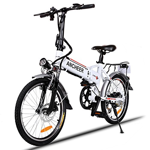 ANCHEER Folding Electric Bike with 36V 8AH Removable Lithium-Ion Battery Lightweight Electric City Bike with 250W Motor and Battery Charger
