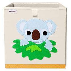 DODYMPS Foldable Animal Toy Storage Bins/Cube/Box/Chest/Organizer for Kids & Nursery, 13 inch (Koala)