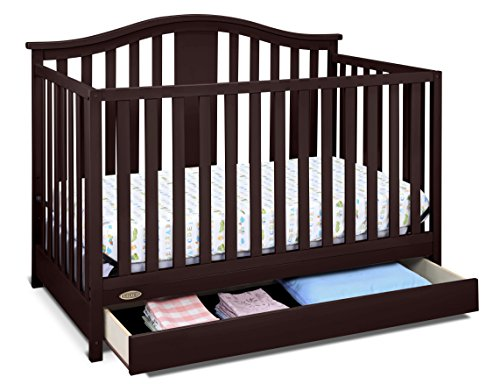 #7 - Graco Solano 4-in-1 Convertible Crib with Drawer