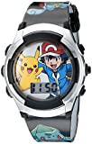 Pokémon Kids' Digital Quartz Watch with Plastic Strap, Black, 16 (Model: POK3018)