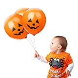 LOKMAN Halloween Balloons, 100pcs 12 Inches Ultra Thickness Pumpkin Latex Balloons for Happy...
