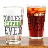 CafePress Coolest Stepdad Pint Glass, 16 oz. Drinking Glass