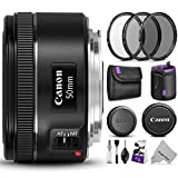 Canon EF 50mm f/1.8 STM Lens w/Essential Photo Bundle - Includes: Canon USA Warranty, Altura Photo UV-CPL-ND4 Filter Kit, Neoprene Lens Pouch, Camera Cleaning Set