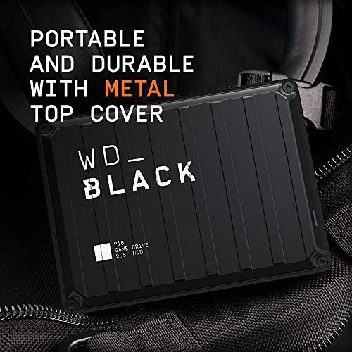 WD_BLACK 5TB P10 Game Drive, Portable External Hard Drive HDD, Compatible with Playstation, Xbox, PC, & Mac - WDBA3A0050BBK-WESN