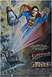1987 SUPERMAN IV QUEST FOR PEACE movie poster CHRISTOPHER REEVE 24X36 hero (reproduction, not an original)