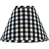 """Home Collection by Raghu Heritage House Check Candle Clip Lampshade 6"""", Black"""