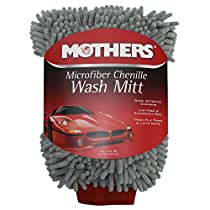 Mothers Premium Chenille Car Wash Mitt - Scratch and Lint Free
