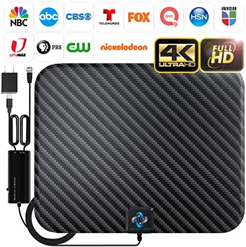 U MUST HAVE Amplified HD Digital TV Antenna Long 250 Miles Range – Support 4K 1080p and All TV's – Indoor Smart Switch Amplifier Signal Booster