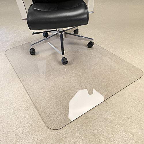 [Upgraded Version] Crystal Clear 1/5' Thick 47' x 35' Heavy Duty Hard Chair Mat, Can be Used on Carpet or Hard Floor