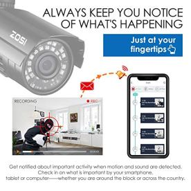 ZOSI-8-Channel-HD-TVI-1080N720P-Video-Security-System-DVR-recorder-with-4x-HD-1280TVL-IndoorOutdoor-Weatherproof-CCTV-Cameras-NO-Hard-Drive-Motion-Alert-Smartphone-PC-Easy-Remote-Access