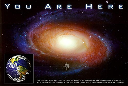 Classic You Are Here Galaxy Space Science Poster Print 36 x 24in