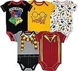 Warner Bros Harry Potter Baby Boys' 5-Pack Bodysuits Hogwarts Gryffindor (0-3 Months)