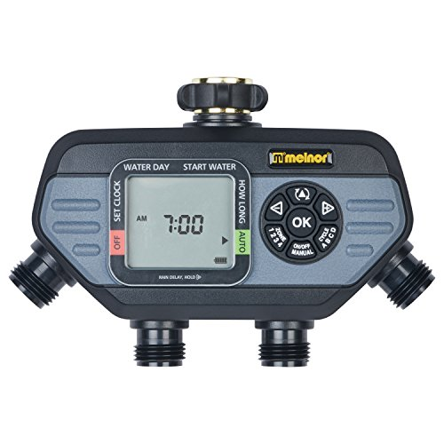 Melnor Outlet Digital Timer with Advanced Functions 4 Independent Cycles and Water Individual Days of Week for Each Valve, 4 Zone