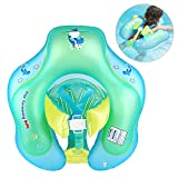 Nicewell Baby Swimming Float Ring - Crotch Strap Safe Underarm Inflatable Floats for Bathtub and Swimming Pool Suitable for 3-10 Month, Size Small 【Upgrade】