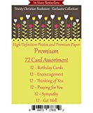 Premium Quality All Occasion 72 ct Christian / Religious Greeting Card Asst. w/ Scripture ~ Free 6pk of Cards to Offset Shipping