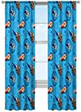 Jay Franco Disney/Pixar Cars City Limits 84' Inch Drapes 4 Piece Set - Beautiful Room Décor & Easy Set Up - Window Curtains Include 2 Panels & 2 Tiebacks (Official Disney/Pixar Product)
