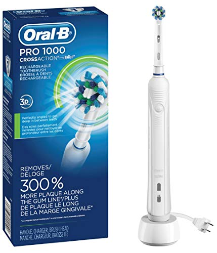 Oral-B White Pro 1000 Power Rechargeable Electric...
