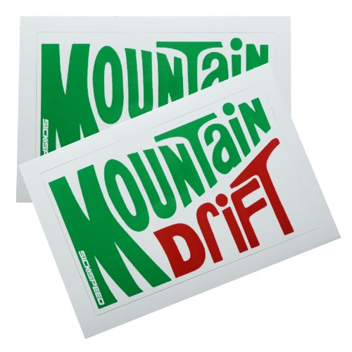 2Pc Mountain Drift Dew Soda Vinyl Sticker Decal Stickerbomb Bomb Funny Spoof for Nissan 240SX