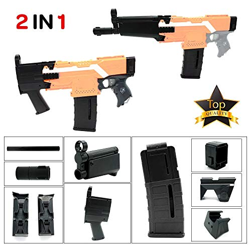 Upgrade Toy Accessory Kit Compatible with Nerf Stryfe Elite and Worker AK Mods,Kriss Vector,Scar,Black