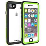 CellEver iPhone 6 / 6s Clear Case Waterproof Shock Absorbing IP68 Certified SandProof Snowproof Full Body Protective Transparent Cover Fits Apple iPhone 6 and iPhone 6s (4.7') KZ Lime Green