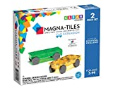 Magna-Tiles 2-Piece Car Expansion Set - The Original, Award-Winning Magnetic Building Tiles - Creativity and Educational - STEM Approved
