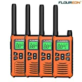 floureon Rechargeable Long Range Two-Way Radios Walkie Talkies for Adults 22 Channel 3000M (MAX 5000M) USB Cable Charging with Flashlight and LCD Screen Walkie Talkies Set of 4