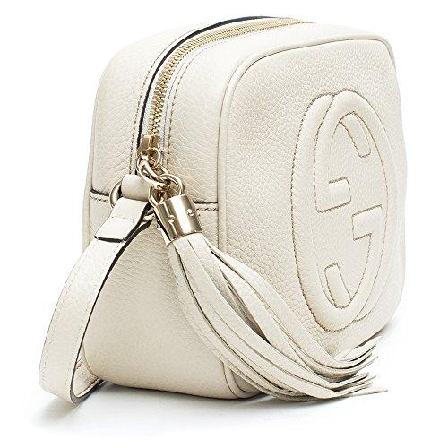 6454142c8 Gucci Soho Leather Disco Bag Mystic White Crossbody Handbag Italy New  Leather