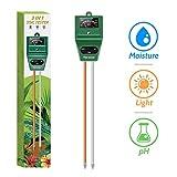 Kensizer Soil Tester, 3-in-1 Soil Moisture/Light/pH Meter, Gardening Tool kit for Plant Care, No Battery Required