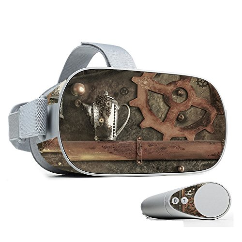 MightySkins Skin Compatible with Oculus Go Mobile VR - Steam Punk Room | Protective, Durable, and Unique Vinyl Decal wrap Cover | Easy to Apply, Remove, and Change Styles | Made in The USA
