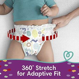 Diapers Size 3, 156 Count – Pampers Pull On Cruisers 360° Fit Disposable Baby Diapers with Stretchy Waistband