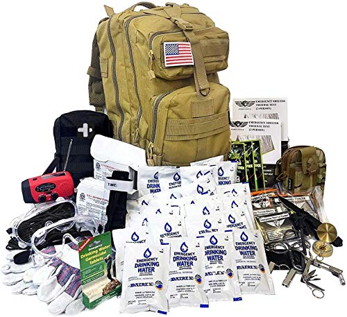 EVERLIT-Complete-72-Hours-for-2-People-Earthquake-Bug-Out-Bag-Emergency-Survival-Kit-Be-Prepared-for-Hurricanes-Floods-Tsunami-Other-Disasters