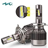 NAO H4 Led Headlight Bulb 9003 HB2 Led Lights 2pcs 56w 7600Lm 6500K Hi/Lo Beam Bulbs All-in-One Conversion Kits