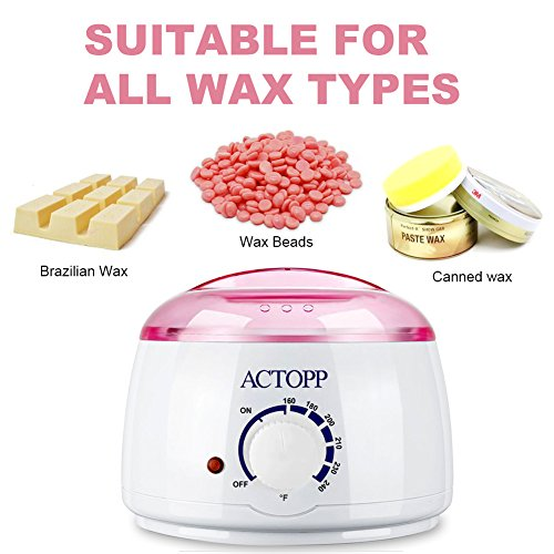 ACTOPP Wax Warmer Hair Removal Electric Wax Melter with 4