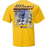 Checkered Flag 2019 NASCAR Cup Series Driver Schedule T-Shirt-Kyle Busch #18-Gold-XL