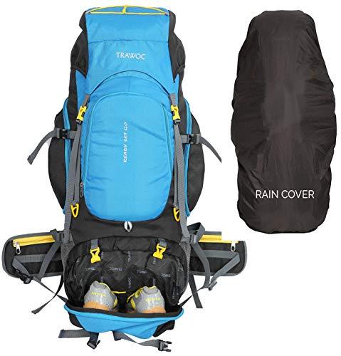 51NGzup6afL - TRAWOC 75 Liter Travel Backpack for Outdoor Sport Camping Hiking Trekking Bag Rucksack, Sky Blue