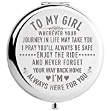 DIDADIC Daughter Gifts from Mom and Dad, Unique Birthday Gift Ideas for Granddaughter, Graduation Gifts for Her, Present for Women (MIR-Girl-Journey)