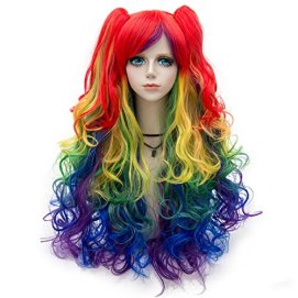 Probeauty-Lolita-Mix-Color-Wigs-Long-Curly-Ponytail-Women-Anime-Cosplay-Wig-Wig-Cap