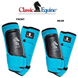 Product review for 4 PACK CLASSIC EQUINE CROSS FIT HORSE LEG BOOT FRONT REAR HIND TURQUOISE - LARGE