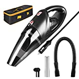 Manfiter Car Vacuum Cleaner Portable Handheld, Mini Vacuum Cleaner Low Voice for Car with Stronger Suction with Carrying Bag with HEPA Filter 16.4ft Cable