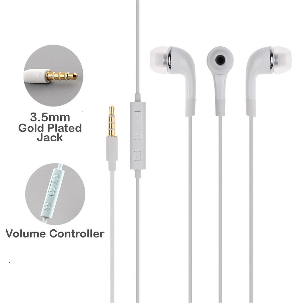 Online Shop in Ear Headphone for All Android Mobiles/Hand Free with Mic/ 3.5mm Jack White Ear Phone with Best Sound Quality