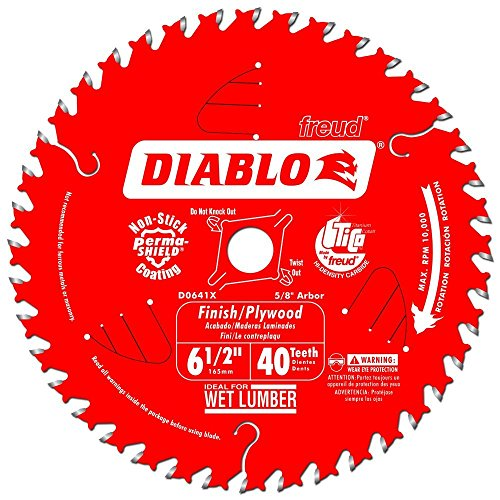Diablo by Freud D0641X 6-1/2 by 40 Finishing Saw Blade 5/8' Arbor (1 per pack)
