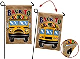 Evergreen Back to School Double-Sided Burlap Garden Flag - 12.5'W x 18' H