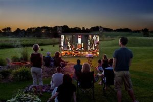 Backyard Theater System 9-foot Outdoor Entertainment System
